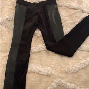 Club Monaco leather/suede leggings
